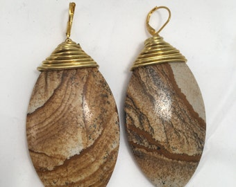 Picture Jasper Ear Weights