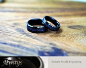 6MM And 8MM Legend Of Zelda Tungsten Wedding Set, Free Inside Engraving