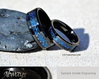 Summer Sale! 6MM And 8MM Legend Of Zelda Tungsten Wedding Set, Free Inside Engraving