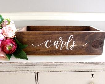 Wedding Card Box, Wooden Card Box, Large Card Box, Rustic Wedding Decor B-1