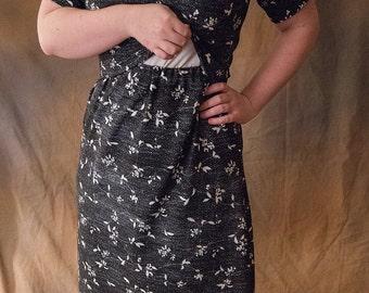 Nursing Momma Modest Maternity Dress, Breast Feeding Dress