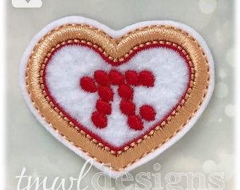 "Pepperoni Pizza Pi Heart Feltie Digital Design File - 1.75"""
