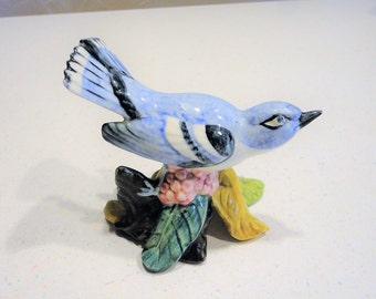 Stangl Pottey Bird Figurine - Cerulean Warbler Collectible Vintage Home Decor