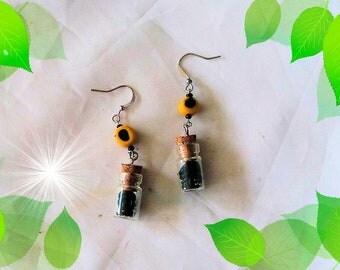 Earrings, earrings, handmade, Fimo, Lakritzschnecken