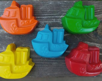Boat Crayons Set of 10 - Party Favor - Sail Boat Crayons - Ocean Party Favors