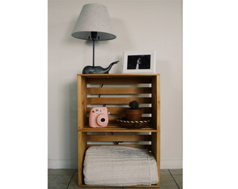 Items similar to custom build dog crate furniture end for Apple crate furniture