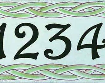 House numbers, house number plaque, Daisy sign, hand painted Italian house numbers, housewarming gift, closing gift, Spanish house sign