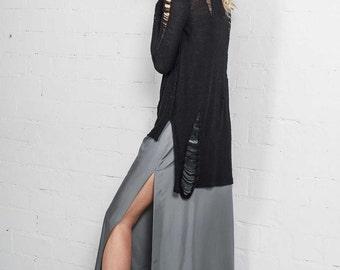 Alpaca wool sweater / Alpaca cardigan /Cardigan women / Gift for her / Asymmetric cardigan/ Scuro cardigan