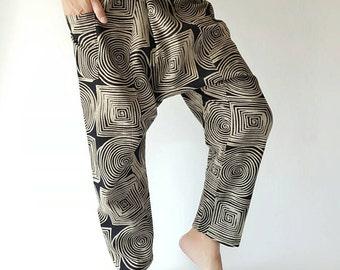HC0123 Handmade Thai Fisherman Pants, Wrap pants, Unisex pants