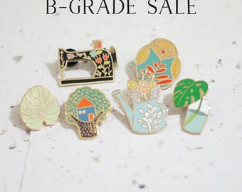 B-Grade Enamel Pin // Imperfect - Seconds Sale - 50% Off Original Pricing - Hard Enamel - Enamel Pin - Pin - Lapel Pin - Flair - Brooch