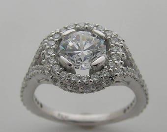 Interesting 14K Gold and Diamond Ring Setting Mounting