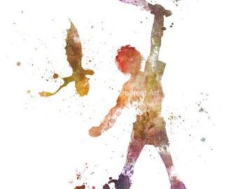 How to train your Dragon ART PRINT illustration, Mixed Media, Home Decor, Nursery, Kid, Fantasy