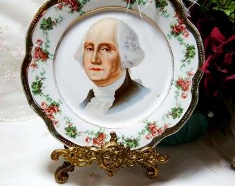 Antique circa 1900, George Washington Portrait Plate