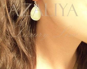 Amazonite Earrings Silver. Jade Earrings. Teardrop Earrings. Green Earrings. Azaliya Luxury Line. Bridal, Bridesmaids Earrings. Gift.