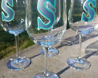 Seattle Mariners Wine Glass