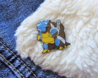 Vintage Pokemon 90s Blastoise Nintendo Gameboy Ash Ketchum Pin Badge