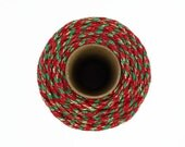 Christmas Sparkle Twine Baker's Twine 100m - Red, Green and Gold Sparkly Butchers Twine