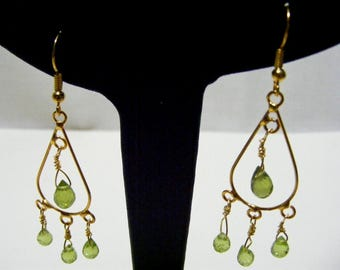 Peridot Chandelier Gemstone Earrings