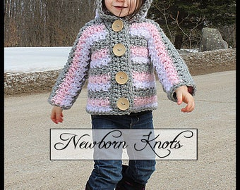 Crochet Pattern Sassy Stripes Sweater. Pattern number 083. Instant Download