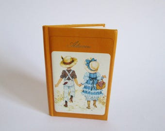 Lovely vintage address booklet Miss Petticoat, retro collectible booklet