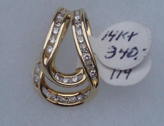 14kt Yellow Gold and Diamond Slider Pendant