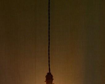 Minimalist Pendant Light, Industrial Pendant Light, Steam Punk Light, Rustic Wire Pendant Light, Bar Light, Vintage Spring Pendant