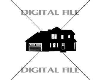 House Vector Images SVG Files Digital Cutting Files  Ai - Eps - PNG - DXF - A3