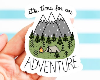 Adventure Sticker, Dad, Father's Day Gift, Bike Stickers, Nature, Bumper Stickers, Camping Sticker, Explore, Travel Sticker, Hiking Sticker