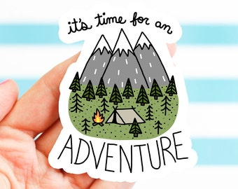 Adventure Sticker, Bike Stickers, Nature, Bumper Stickers, Camping Sticker, Explore, Travel Sticker, Hiking Sticker, Outdoorsy Gift, Explore