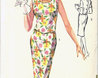 SALE 1960s Advance 2877 Misses' Two-Piece Dress Sewing Pattern CUT