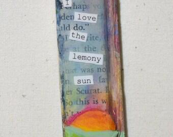 I love the lemony sun mini mixed media collage