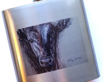 Black Legacy' flask (painting from Cattlemen's Ball of NE)