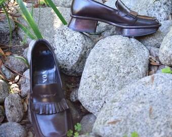 Prada Platform Penny Loafers