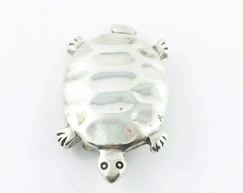 RESERVED Vintage Sterling Silver Turtle Brooch Sterling Turtle Brooch Tortoise Brooch Silver Tortoise Pin Vintage Turtle Easter Gift For Her