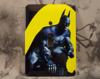 Metal Batman Light Switch Cover - Batman Returns - 1T Single Toggle - Single Gage Switch