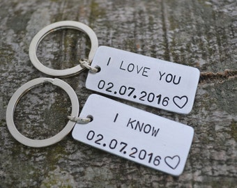 I Love You I Know, Star Wars Keychain, Anniversary Gifts For Boyfriend, Girlfriend Gift, Long Distance Relationship, Gift For Men, Men Gift