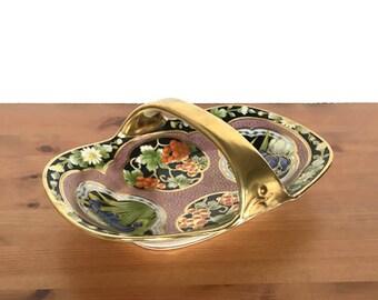 Antique Noritake dish Nippon Morimura M in wreath hand painted bowl