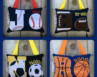 Tooth Fairy Pillow - Boy's Tooth Fairy Pillow - Sports Version
