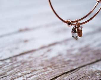 Quartz crystal bracelet | Tibetan Quartz crystal bangle | Raw crystal bracelet | Bangle bracelet | Copper crystal bracelet