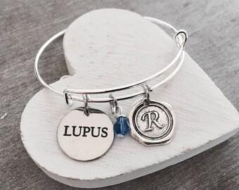 Lupus, Lupus Jewelry, Lupus Bracelet, Lupus Gift, Silver Bracelet, Charm Bracelet, Fighter, Lupus Awareness, Chronic Illness,