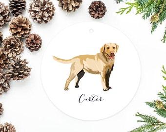 Labrador Ornament, Personalized Christmas Ornament, Dog Gift, Labrador Retriever, Yellow Lab