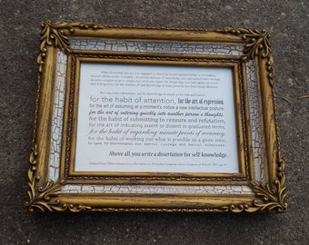 You Write a Dissertation Plaque in Ornate Gold Frame