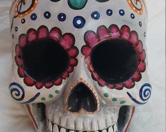 Sugar Skull Painted Sculpture, Sugar Skull Gift, Calavera, Sugar Skulls, Mexican Folk Art, Sugar Skull Design, Painted Skull