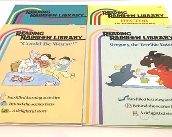 Vintage 1987 Reading Rainbow Special Editions / Set of 4