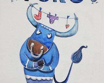 Tavola illustrata segni zodiacali TORO