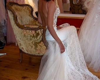 Romantic Rustic wedding dress, Sexy lace wedding dress, Country wedding dress, Sheath wedding dress, Bridal gown, Country rustic wedding