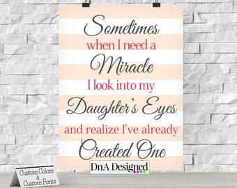 Sometimes When I Need a Miracle Digital Print - Nursery Room Decor - Children's Wall Art - DIY - {26DP}