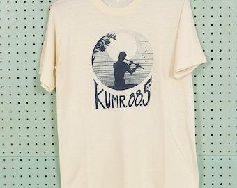 70s Vintage KUMR 88.5 Missouri Radio T Shirt Size M Sportswear Jazz