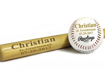 Engraved Baseball Bat, Gift for Ring Bearer, Baseball Gifts for Boys, Ring Bearer Gift Ideas for Boys, Ringbearer Gift, Groomsman Gift