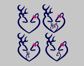 Browning family Decal | Browning Heart Decal | Browning Buck Doe Decal | Browning Yeti Decal